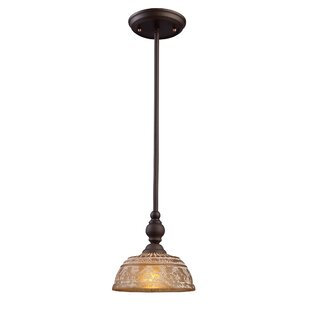 Fleur De Lis Living Burr 1-Light Dome Pendant