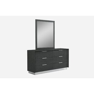 Arushi 6 Drawer Double Dresser with Mirror