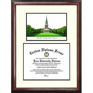 NCAA Wake Forest Demon Deacons Scholar Lithograph Diploma Frame By Campus Images