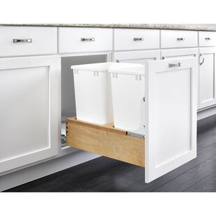 Double 8.75 Gallon Pull Out/Under Counter Trash Can