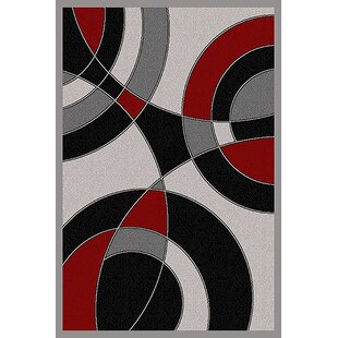 Shop For Cosper Gray/Black Area Rug By Ebern Designs