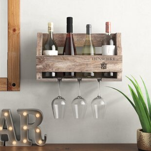 Chelwood Henschke 4 Bottle Wall Mounted Wine Rack By Alpen Home