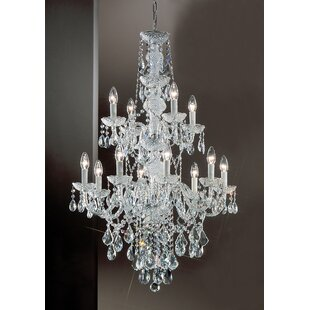 Monticello 12-Light Candle Style Chandelier by Classic Lighting