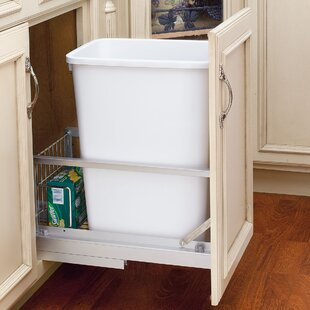 Rev-A-Shelf Plastic 8.75 Gallon Pull Out Trash Can