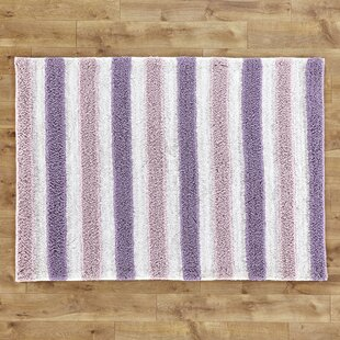 Coupon Alonza Handwoven Plum/Lilac Stripe Area Rug By Birch Lane™ Heritage