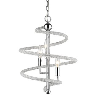 Orren Ellis Iliomar 3-Light Geometric Chandelier