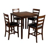 Ilia 5 - Piece Counter Height Dining Set by Red Barrel Studio®