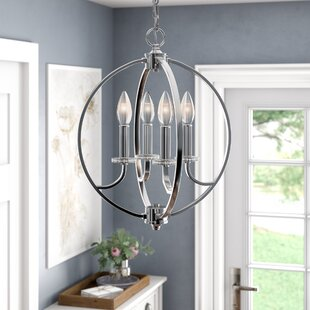 Keever 4-Light Globe Chandelier By Mercer41