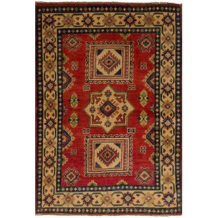 One-of-a-Kind Celyn Hand-Woven Wool Red Area Rug by Isabelline