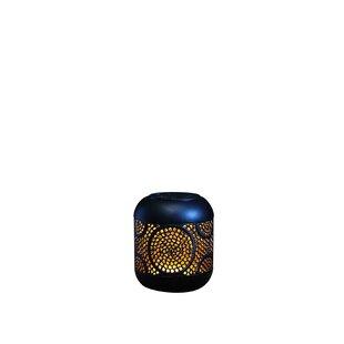 Review Fondren Global Black Solar Powered LED Outdoor Table Lamp