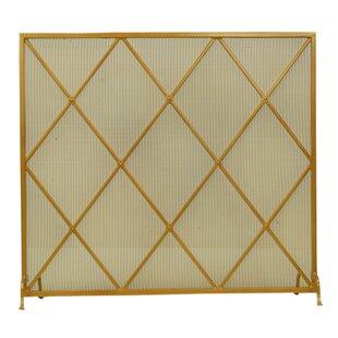 Diamonds Single Panel Fireplace Screen By Meyda Tiffany