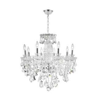 Astoria Grand Pulaski 8-Light Candle Style Chandelier