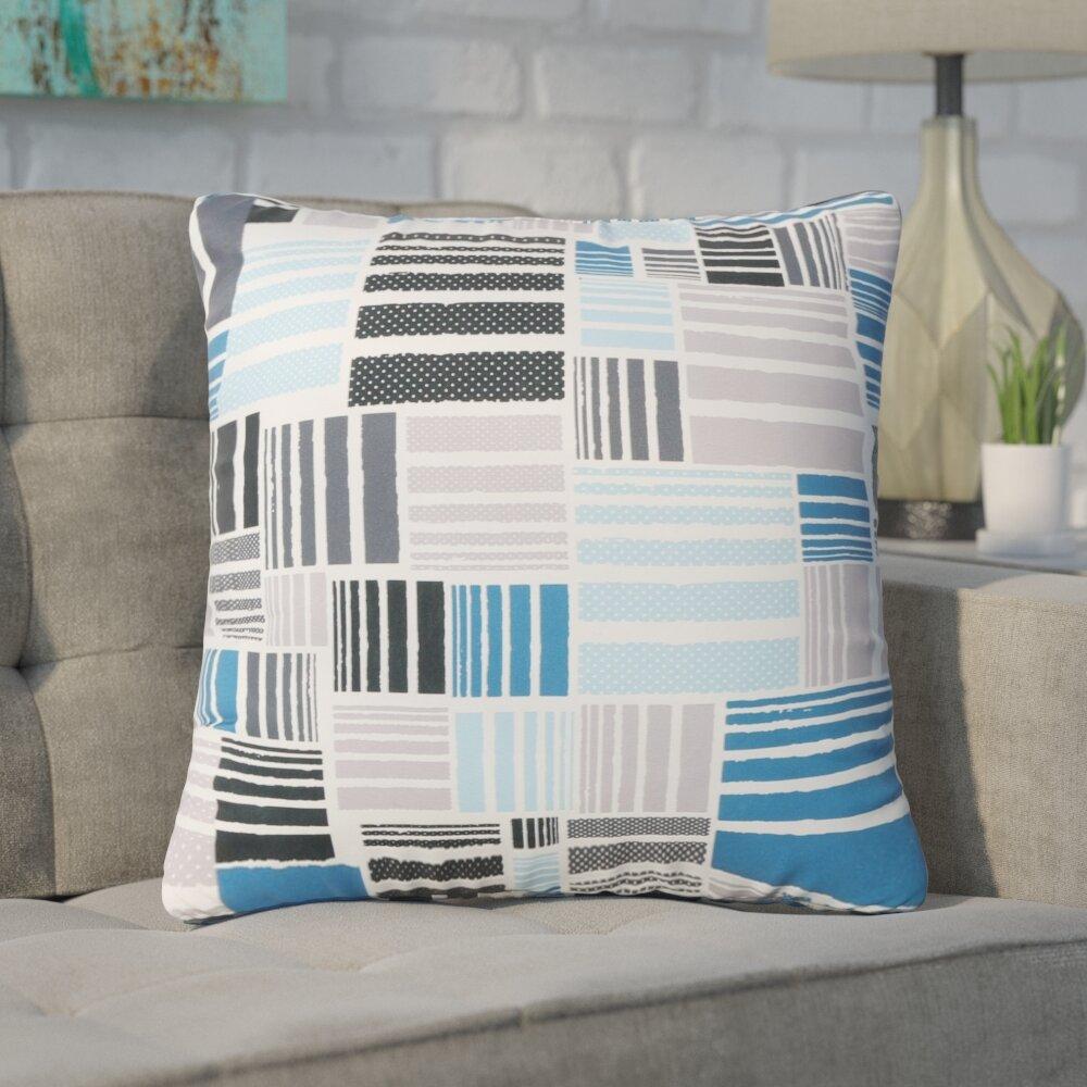 Wrought Studio Swilley Patterned Square Indoor Outdoor Throw Pillow Wayfair