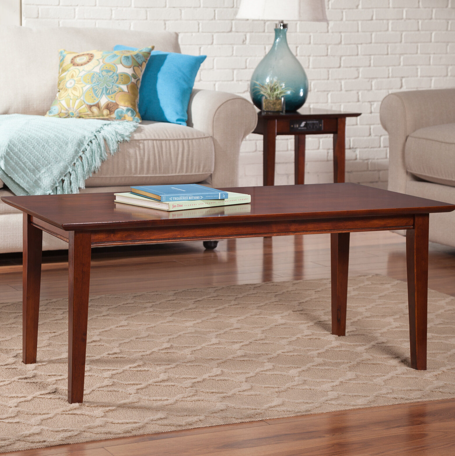 Charlton Home Ithaca Solid Wood Frame Coffee Table Reviews Wayfair