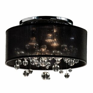 Thomasina 3-Light Semi Flush Mount by Everly Quinn