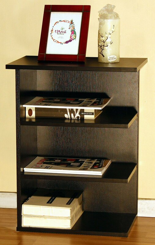 home concept magazine rack chairside end table & reviews | wayfair