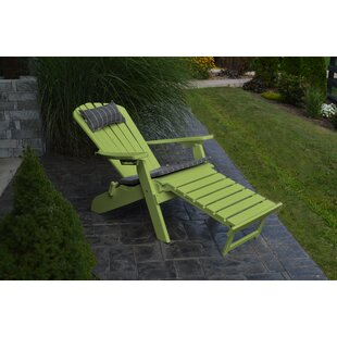 A&L Furniture Plastic Folding Adirondack Chair with Ottoman
