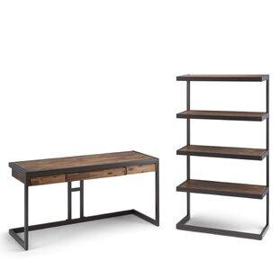 Simpli Home Erina 2 Piece Desk Office Suite