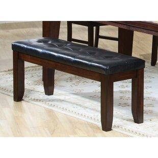 Winston Porter Rensselear Faux Leather Bench