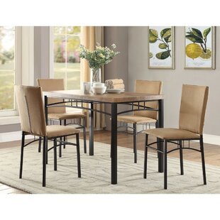 Colindas 5 Piece Dining Set by Fleur De Lis Living Today Only Sale