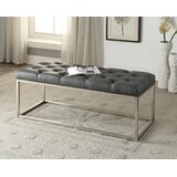 Yoakum Button-Tufted Upholstered Bench