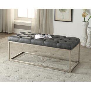 Yoakum ButtonTufted Upholstered Bench by Mercer41