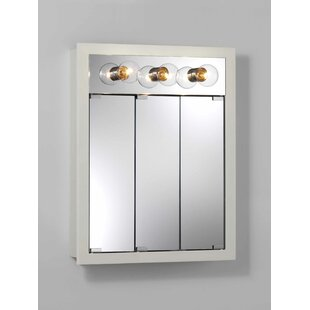 Best Reviews 24 x 30 Surface Mount Medicine Cabinet with Lighting ByJensen