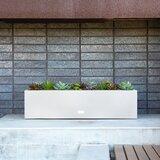 Boîte à fleurs en acier galvanisé Metallic Series