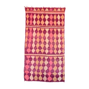 MoroccanHand Woven Wool Pink/Orange Area Rug