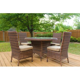 Charlton Home Wilkinson 5 Piece Dining Set with Cushion