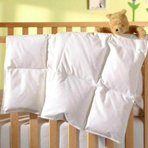 Stars WHITE CRIB DUVET COVER for Baby Down Comforter