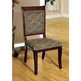Langport Upholstered Side Dining Chair in Antique Cherry (Set of 2) by Fleur De Lis Living