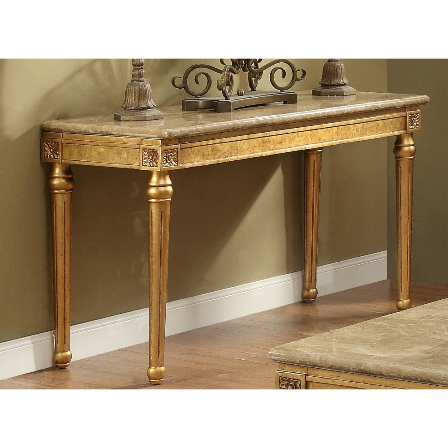 Astoria Grand Tupper Marble Top Console