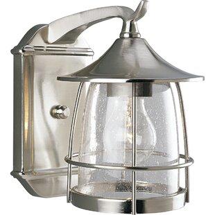 Alcott Hill Triplehorn 1-Light Incandescent Outdoor Wall Lantern