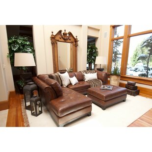 Darby Home Co Jeanine Leather Sectional