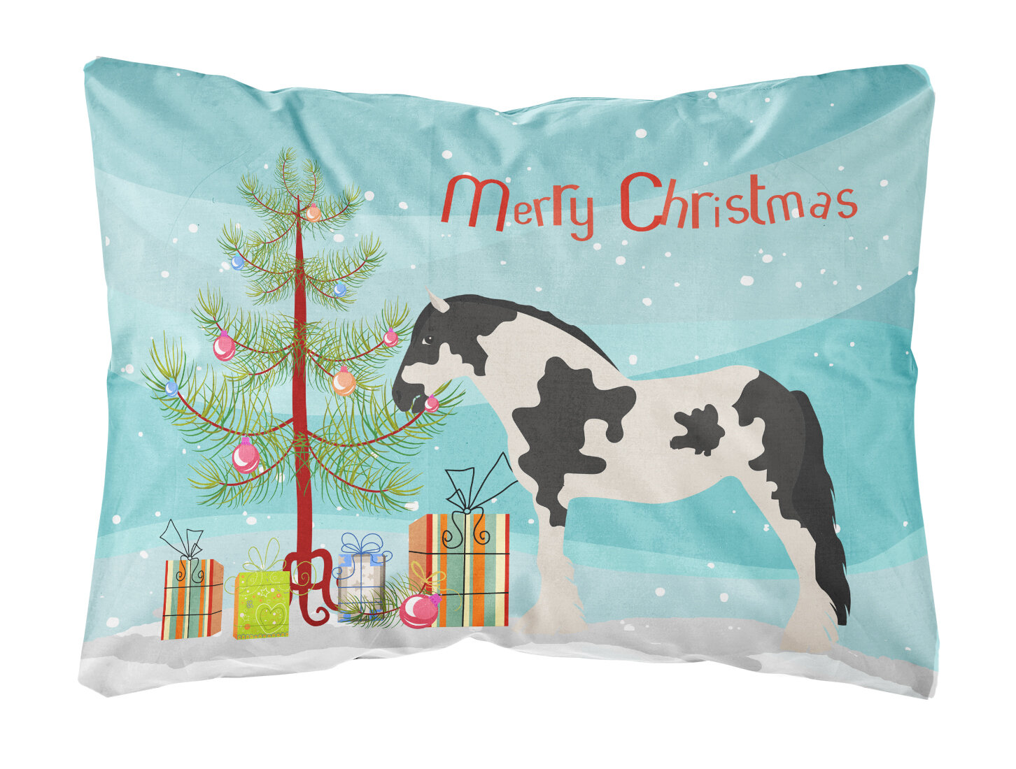 The Holiday Aisle Huntington Clydesdale Horse Christmas Fabric Indoor Outdoor Throw Pillow Wayfair