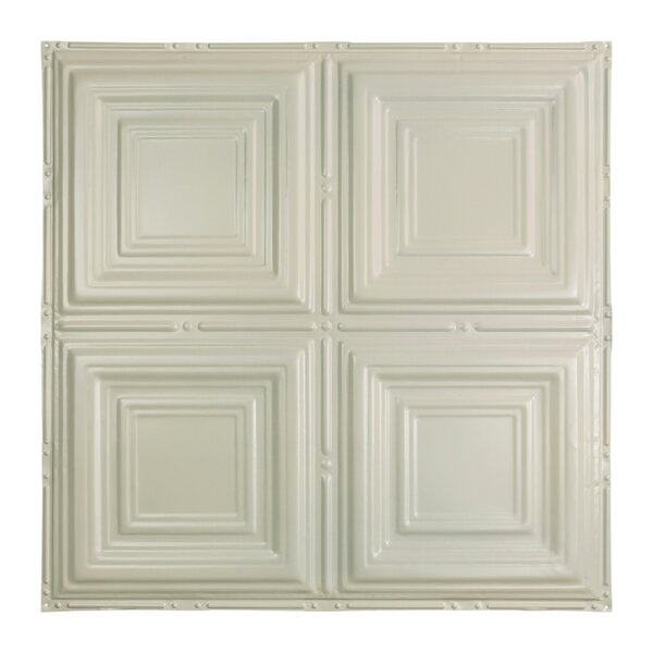 Greatlakestin Syracuse 2 Ft X 2 Ft Nail Up Ceiling Tile In Antique White