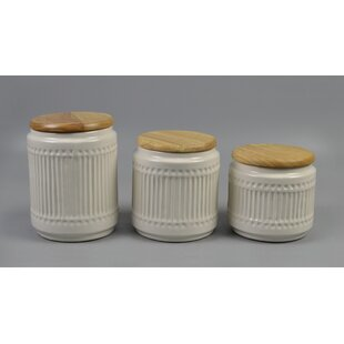 Ribbed 3 Piece Kitchen Canister Set by Gracie Oaks Find