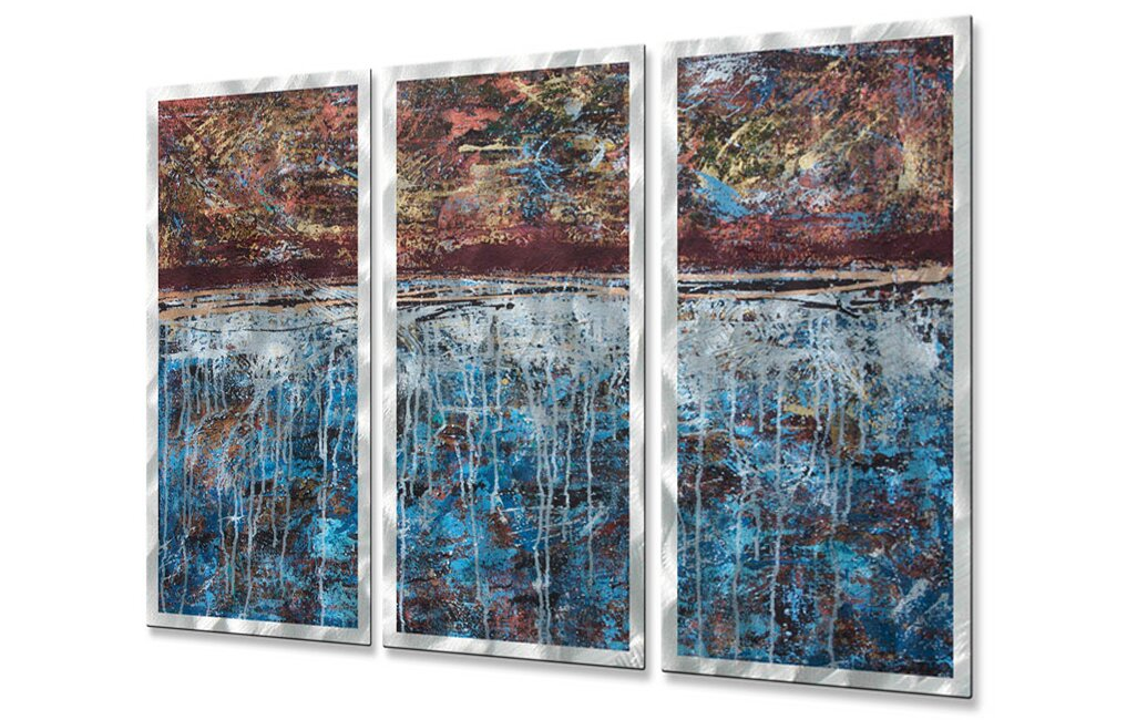 'Lithosphere 25' by Hilary Winfield 3 Piece Graphic Art Plaque Set