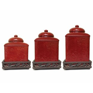 Savannah 3 Piece Kitchen Canister Set