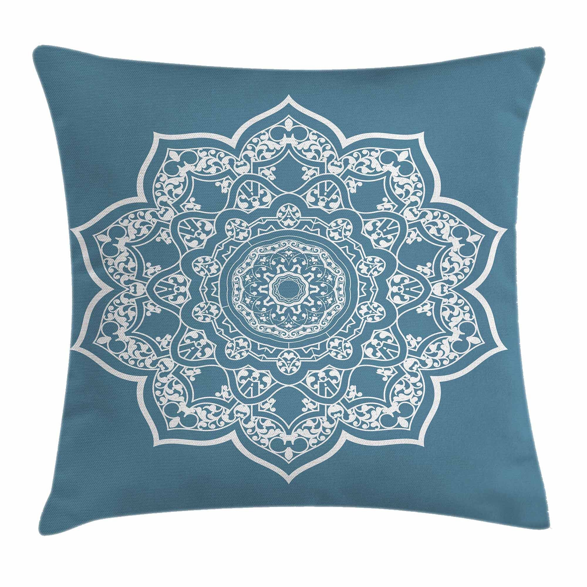 Ambesonne Leaf Lace Style Royal Round Square Pillow Cover Wayfair