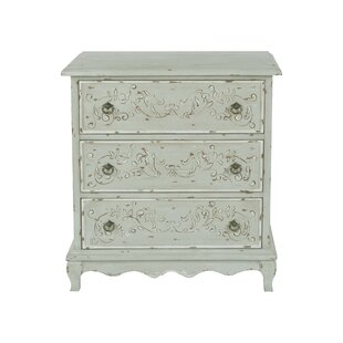 Greentop Hand Painted 3 Drawers Accent Chest by Ophelia & Co.