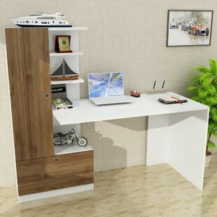 Jacque Desk with Hutch by Wrought Studio