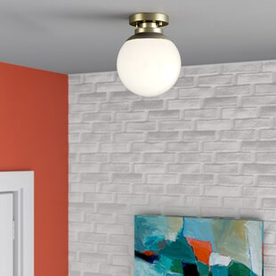 Rosemont 1-Light Semi Flush Mount by Wrought Studio