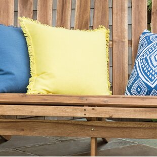 Olander Fringe Indoor/Outdoor Cotton Throw Pillow