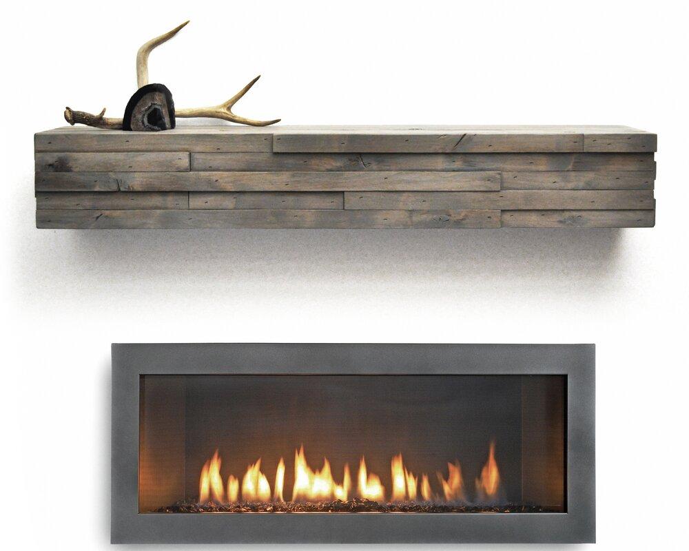 Dogberry Collections Modern Fireplace Mantel Shelf & Reviews | Wayfair