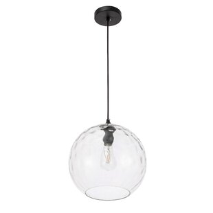 Verlie 1-Light Globe Pendant by Wrought Studio