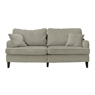 """Carlisle 78"""" Sofa with Pleated Arms by Serta at Home SKU:EE656370 Check Price"""