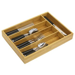 Comparison Bamboo Cutlery 2 H x 10 W x 14 D Drawer Organizer BySweet Home Collection
