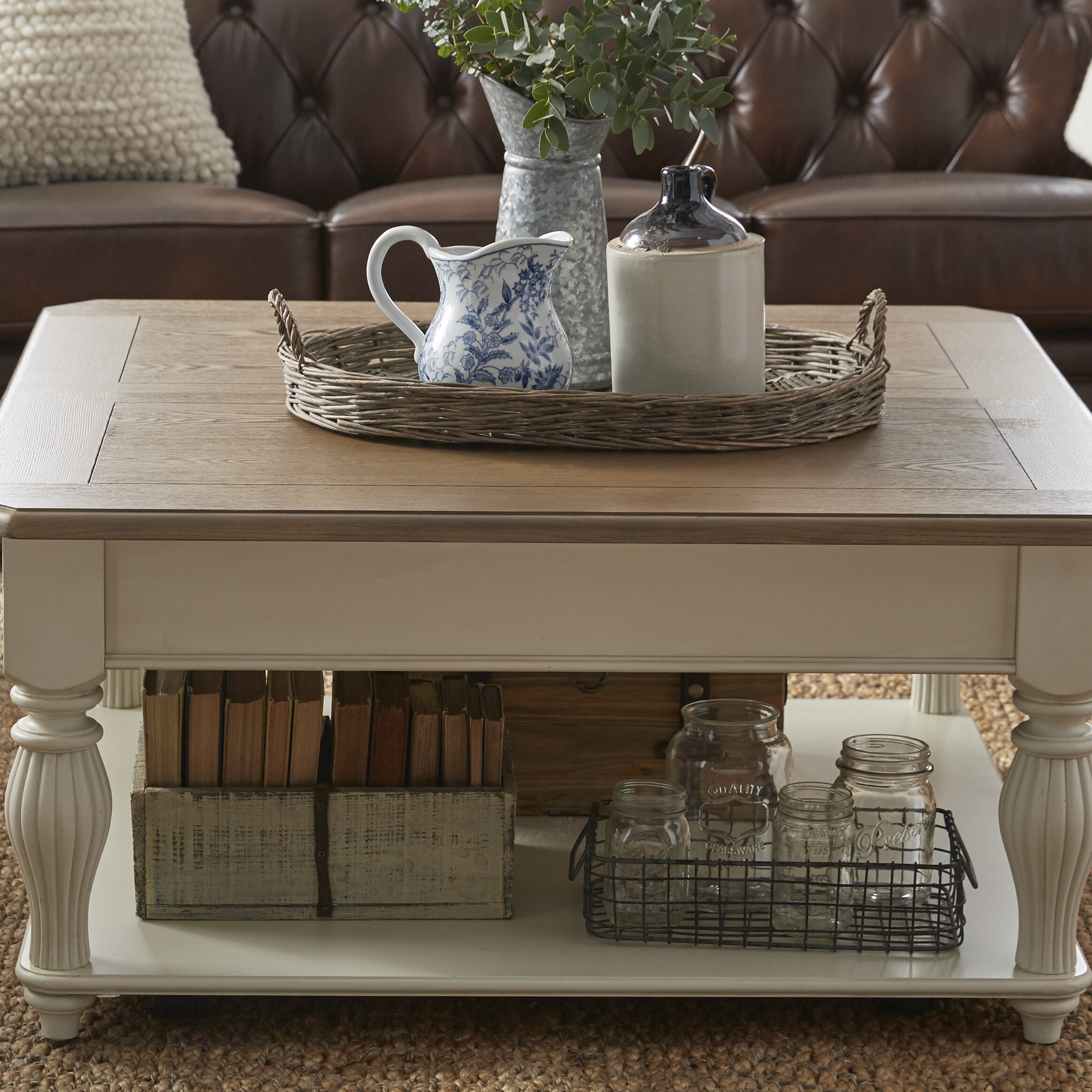 Beachcrest Home Sharon Lift Top Coffee Table With Storage Reviews Wayfair [ 2324 x 2324 Pixel ]